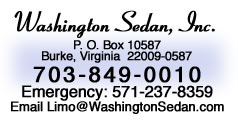 Washington Sedan 703-849-0010